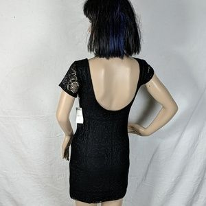 NWT Forever 21 Crocheted Scoop Back Mini Dress